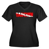 Tauchen German Scuba Flag Women's Plus Size V-Neck