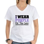 Alzheimer's For The Cure Women's V-Neck T-Shirt