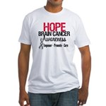 Hope Brain Cancer Fitted T-Shirt