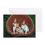 Yellow Lab Puppies Greeting Cards