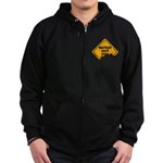 Watch Out! Zip Hoodie (dark)