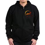 Flying Vampire Bats Zip Hoodie (dark)