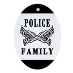 Police Tattoo Ornament (Oval)