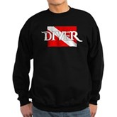 Pirate-style Diver Flag Sweatshirt (dark)