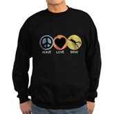 Peace Love Dive Sweatshirt (dark)