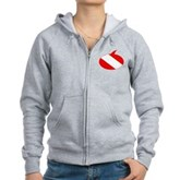 Text Bubble Dive Flag Women's Zip Hoodie