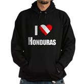  Scuba: I Love Honduras Hoodie (dark)