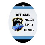 Police Family Ornament (Oval)