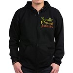 Totally Flaming Autistic Zip Hoodie (dark)