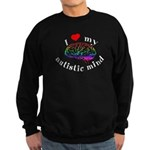 I Heart My Autistic Mind Sweatshirt (dark)