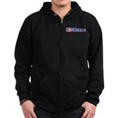 I Love Obama Zip Hoodie (dark)