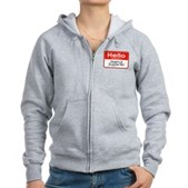 Obama Supporter Name Tag Women's Zip Hoodie