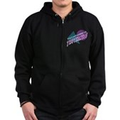 You Can't Handle the Truthiness Zip Hoodie (dark)