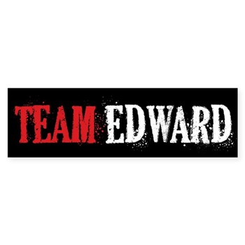 Twilight Team Edward Bumper Sticker - CafePress :  automobiles
