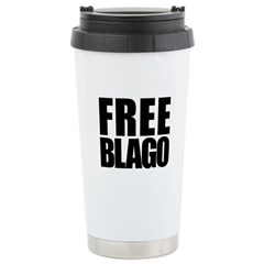 Free Illinois Governor Blagojevich, he's innocent! Ceramic Travel Mug