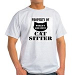 Prop. of Cat Sitter Light T-Shirt