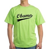 Obama Swish Green T-Shirt