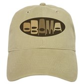 This retro-look design in neutral browns reads Obama in a funky stylish font in an oval shape. A great, unique design for anyone that supports our president, President Barack Obama!