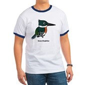 Green Kingfisher Ringer T