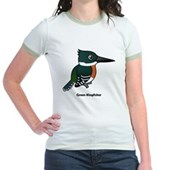 Green Kingfisher Jr. Ringer T-Shirt