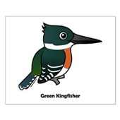 Green Kingfisher Small Poster