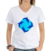 Dolphin Ring Women's V-Neck T-Shirt
