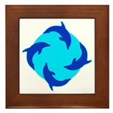 Dolphin Ring Framed Tile