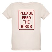 Please Feed the Birds Organic Kids T-Shirt