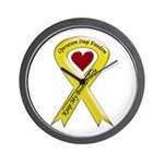 Military Brother Yellow Ribbon Wall Clock
