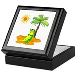 Iguana With Sunglasses Keepsake Box