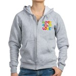 Hope Peace Love Women's Zip Hoodie