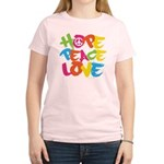 Hope Peace Love Women's Light T-Shirt