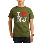 I Love NJ Organic Men's T-Shirt (dark)