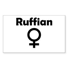 Ruffian Sticker (Rectangle)