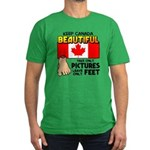 Canada Severed Foot Men's Fitted T-Shirt (dark)