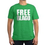 Free Illinois Governor Blagojevich, he's innocent! Men's Fitted T-Shirt (dark)