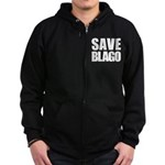 Save Illinois Governor Blagojevich, he's innocent! Zip Hoodie (dark)