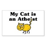 My Cat Is An Atheist Sticker (Rectangle)