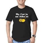 My Cat Is An Atheist Men's Fitted T-Shirt (dark)