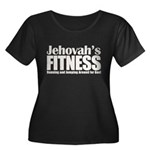 Jehovah's Fitness Women's Plus Size Scoop Neck Dark T-Shirt