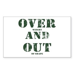 Over & Out Sticker (Rectangle)