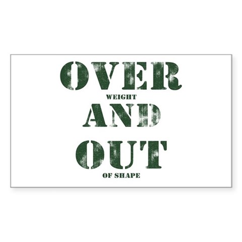 Over & Out Rectangle Sticker