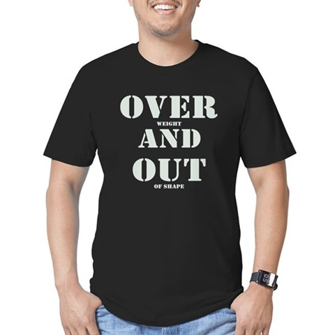 Over & Out Men's Fitted T-Shirt (dark)