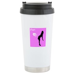 iFart Funny Spoof Ceramic Travel Mug