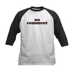 No Comment Kids Baseball Jersey