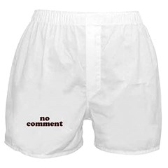 No Comment Boxer Shorts