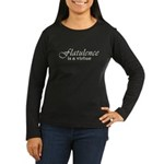 Flatulence Is A Virtue Women's Long Sleeve Dark T-Shirt