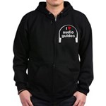 I Love Audio Guides Zip Hoodie (dark)