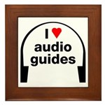 I Love Audio Guides Framed Tile