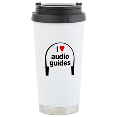 I Love Audio Guides Ceramic Travel Mug